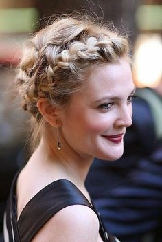 Milkmaid braids for Short Hair - Cute Updo Hairstyle for Short Hair