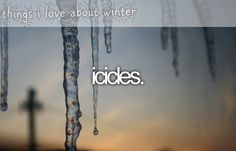Things I love about winter ♥