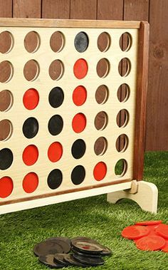 Oversized Four in a Row for Outdoor Fun! All it would take is a hole saw and a trip to Home Depot! Add to our collection of giant sized games. Outdoor Games, Backyard Games, Outdoor Play, Outdoor Activities, Outdoor Living, Outdoor Decor, Outdoor Toys, Backyard Play, Outdoor Parties