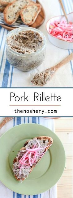 Rillettes is a rustic pâté made from meat that's been poached in its own fat, then shredded and stored in that fat. This recipe makes it easy with a slow-cooker. Fruit Recipes, Pork Recipes, Slow Cooker Recipes, Real Food Recipes, Cookie Recipes, Yummy Food, Snack Recipes, Charcuterie Recipes, Charcuterie Board