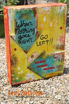 use Squigglefly finger pointing digi's for a card using when nothing goes right go left sentiment