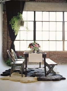 LA loft inspired wedding shoot from Mike Radford photography, Found Vintage Rentals and Art with Nature