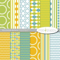 this is scrapbook paper... not fabric -- but, could have a similar application... Moo&Puppy Digital Scrapbook Paper - Westwood Kitsch