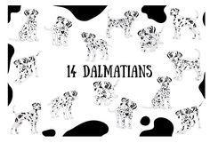 Dalmatian by Orangepencil on @creativemarket