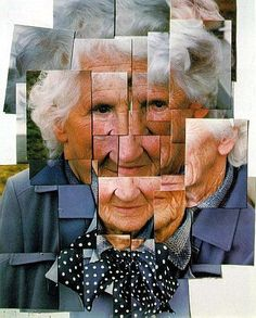 Photo collage portrait (this one is by David Hockney of his mother)