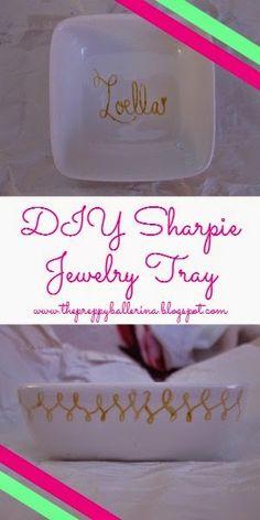 Craft Preppy- Sharpie Jewelry Tray!  www.thepreppyballerina.blogspot.com/2014/11/craft-preppy-sharpie-jewelry-tray.html