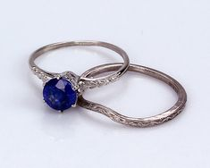 Vintage 1.25ct Ceylon Blue Sapphire 14K Engagement Ring