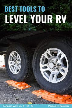 How to use RV leveling blocks and the best type for your camper. Stackable interlocking blocks vs ramps, rockers and DIY wooden blocks. Rv Travel, Time Travel, Adventure Travel, Rv Leveling Blocks, Best Motorhomes, Used Rv, Motor Homes, Fresh Water Tank, Rv Trailers