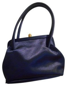 Totally Amazing Prom Purse  Navy   La Regale La Blue Evening Bag Purse With Gold Clasp Satin Navy Blue Baguette $22 with FREE SHIPPING.   High Quality Low Price   Closet of Laurie B.
