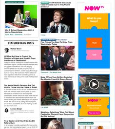 Huffington Post - Adverts blend well in to content, similar styling