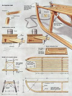 DIY Wooden Sleigh - Children's Outdoor Plans