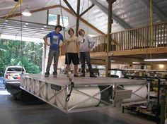 Floating docks! Affordable, sturdy, perfect for your house on the lake! Rollingbarge.com check it out!