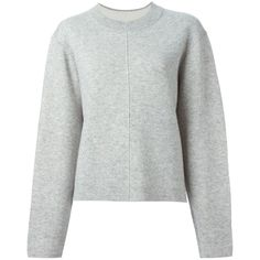 Proenza Schouler boxy sweatshirt (1 215 AUD) ❤ liked on Polyvore featuring tops, hoodies, sweatshirts, grey, gray sweatshirt, sweat shirts, crew neck sweat shirt, grey top and grey crew neck sweatshirt