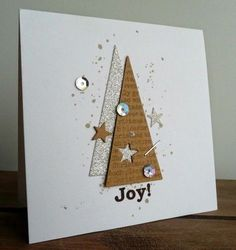 Make 65 ideas for Christmas cards yourself - Karten - Simple Christmas Cards, Homemade Christmas Cards, Christmas Cards To Make, Christmas Decorations To Make, Homemade Cards, Handmade Christmas, Christmas Ideas, Recycled Christmas Cards, Cardboard Christmas Tree