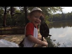 Catching bluegills and turtles with Tommy