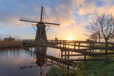 Wind Turbine, Utility Pole, Netherlands, Holland, Wind Mills, Country, Prints, Travel, Canvas
