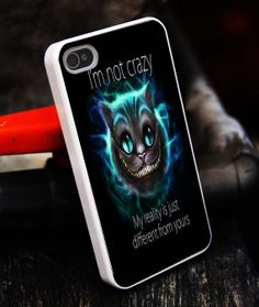 Chesire Cat smile I'm Not Crazy iPhone 5S by tigerredcase on Etsy, $14.97