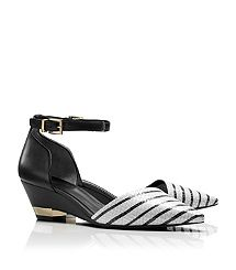 MACKENNA STRIPE WEDGE-these are my #1 must buy from Tory Burch for this spring/summer.  They are a gorgeous, super stylish shoe and the heel height is perfect if you choose not to or can't wear high heels.