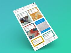 Hipster Perspective Mockup of Gibbon iPhone App.