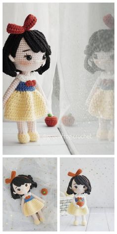 Amigurumi Rose Doll Free Pattern – Amigurumi Free Patterns And Tutorials Amigurumi Rose Doll Free Pattern – Kostenlose Amigurumi-Anleitungen und Anleitungen Doll Patterns Free, Crochet Dolls Free Patterns, Crochet Doll Pattern, Cute Crochet, Crochet Crafts, Crochet Projects, Doll Amigurumi Free Pattern, Amigurumi Doll, Crochet Mignon