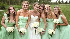Madrinhas de casamento - cores iguais