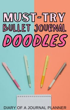 Drawing your own bullet journal doodles for your planner pages is made easy with this simple doodle DIY guide! #bulletjournaldoodles #doodles Bujo Doodles, Love Doodles, Simple Doodles, Bullet Journal Printables, Bullet Journal Art, Doodle Sketch, Doodle Drawings, Journal Layout, Art Journal Pages