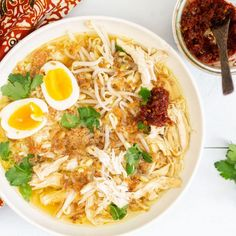 Soto ajam Healthy Soup, Healthy Recipes, Healthy Meals, Chinese Food, Chinese Recipes, Food For Thought, Crockpot, Food Porn, Good Food