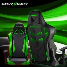 LED Gaming Chair Green and Red color.Matt Sohinki #gaming #dxracer #videogames