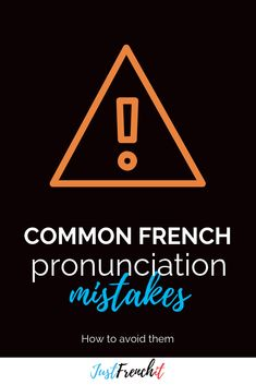 You know what matters more than anything else when you want to speak French? PRONUNCIATION! So avoid those pronunciation mistakes in French... French Sentences, French Phrases, French Words, Learn To Speak French, French For Beginners, French Expressions, Lack Of Motivation, Ways Of Learning, French Lessons