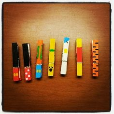 Painted clothespins that are so easy to make, even a toddler could do it. | 36 DIYs That Will Get The Whole Family Psyched For A Disney Vacation