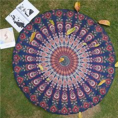 New Beach Throw Towel Yoga Mat Cloth Picnic Blanket Shawl Bohemia Decor Geometric Round Nice Carpet Rug Tapestry Wall Hanging Yoga Blanket, Beach Blanket, Beach Towel, Beach Mat, Mandala Blanket, Large Blankets, How To Do Yoga, Outdoor Blanket, Tapestry