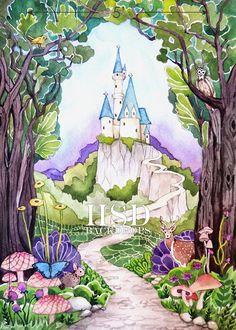 Photography Backdrops   Enchanted Castle
