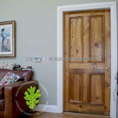 Traditional 4 Panel Reclaimed Pine Door u2013 Toffee Brown Wax | Wilsonsyard.com & Original Victorian Quebec Yellow Pine Doors Dipped And Waxed ...