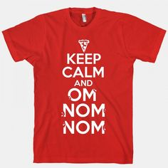 Stressed is just desserts spelled backwards! Keep calm and nom nom nom with this new t-shirt, available at the Food Network Store.