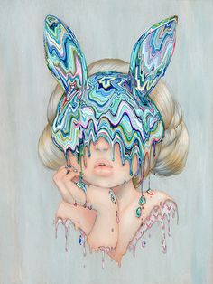 """Painting from my """"Masquerade"""" show at the Haven Gallery in New York. Prints of her will be available April 14th at 9AM on my Etsy: thecamillastore.etsy.com ☺"""