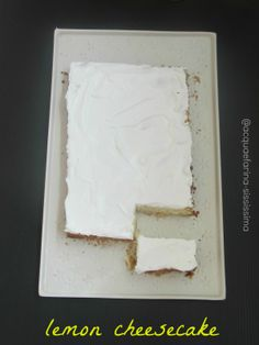 RE-CAKE 4: classic lemon cheesecake