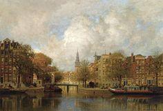 Johannes Christian Karel Klinkenberg:A vieuw of the Groenburgwal,with the Zuiderkerk,seen from the River Cityscape, Painter, Victorian Art, Painting, Art, Cityscape Painting, Johannes, All Art, Art And Architecture