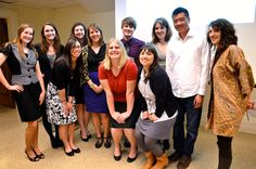 Prof. Gottlieb with ten conference presenters.