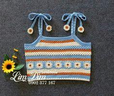 Crochet Cord, Crochet Shirt, Cute Crochet, Crochet Stitches, Baby Bikini, Crochet Designs, Crochet Patterns, Crochet Headband Free, Crochet Bikini Pattern