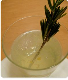 Rosemary-lemon simple syrup (Makes about 1 1/2 cups) 1 cup sugar 1 cup water 1 lemon, zested and cut in half (remove the seeds) 1 handful rosemary (or any fresh herb)