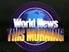 World News This Morning Title Card, Classic Image, Abc News, Tv, Logos, Television Set, Logo, Television