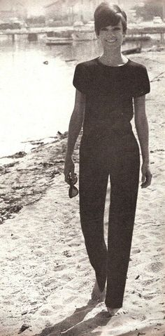 """photographed by her dear friend Pierluigi Praturlon on the French Riviera, during the filming of """"Two for the Road"""" for Vogue, in June 1966."""