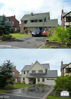 to remodel and refurbish a 1960 s property with a New England style. The property has been extended and upgraded with a dramatic transformation. By Back to Front Exterior Design Home Exterior Makeover, Exterior Remodel, Ranch House Plans, Best House Plans, Modern Exterior, Exterior Design, Garage Design, Modern Door, Modern Barn