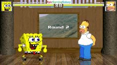 SpongeBob SquarePants VS Homer Simpson From The Simpsons Series In A MUGEN Match / Battle / Fight This video showcases Gameplay of Homer Simpson From The Simpsons Series VS SpongeBob SquarePants In A MUGEN Match / Battle / Fight