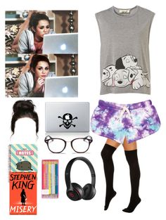 """Studying with Miley"" by joelene-garcia ❤ liked on Polyvore featuring Foot Traffic, Cyrus, Vinyl Revolution, Pusheen, Ray-Ban and Beats by Dr. Dre"