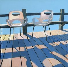 Morning Chairs  limited edition giclee print by leahgiberson on Etsy