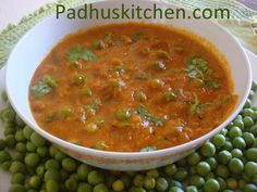 Matar Masala Gravy - Ingredients needed    Green peas - 1 cup (fresh peas)  Onion - 1 cup (chopped)  Tomato -3/4 cup chopped  Ginger -1 inch piece  Garlic -4 cloves  Green chilli - 1  Salt as required  Butter -1 1/2 tsp + oil -2 tsp or oil- 3 1/2 tsp    Spice Powder    Turmeric powder - a pinch  Chilli powder -1 tsp  Coriander powder -2 tsp  Jeera powder -3/4 tsp  Kitchen king masala - 1 1/4 tsp ( you can use 1 tsp Garam masala also)    For the seasoning  Oil - 2 tsp  Cumin/ Jeera seeds - 1…
