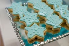 Cookies at a Mermaid Party #mermaid #partycookies by daisy