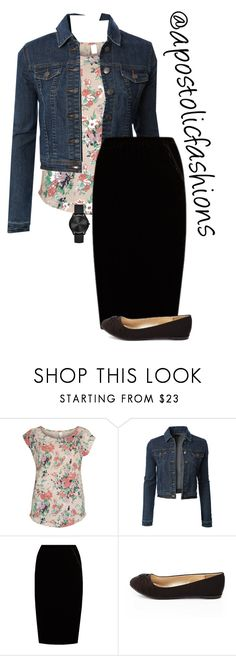 """""""Apostolic Fashions #1690"""" by apostolicfashions ❤ liked on Polyvore featuring Vila Milano, LE3NO, Jupe By Jackie, Charlotte Russe and Michael Kors"""