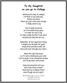 A Poem About Daughters Sons Going To College Leaving Home